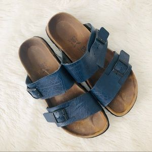 Betula Birkenstock Blue Dual Strap Arizona Sandals